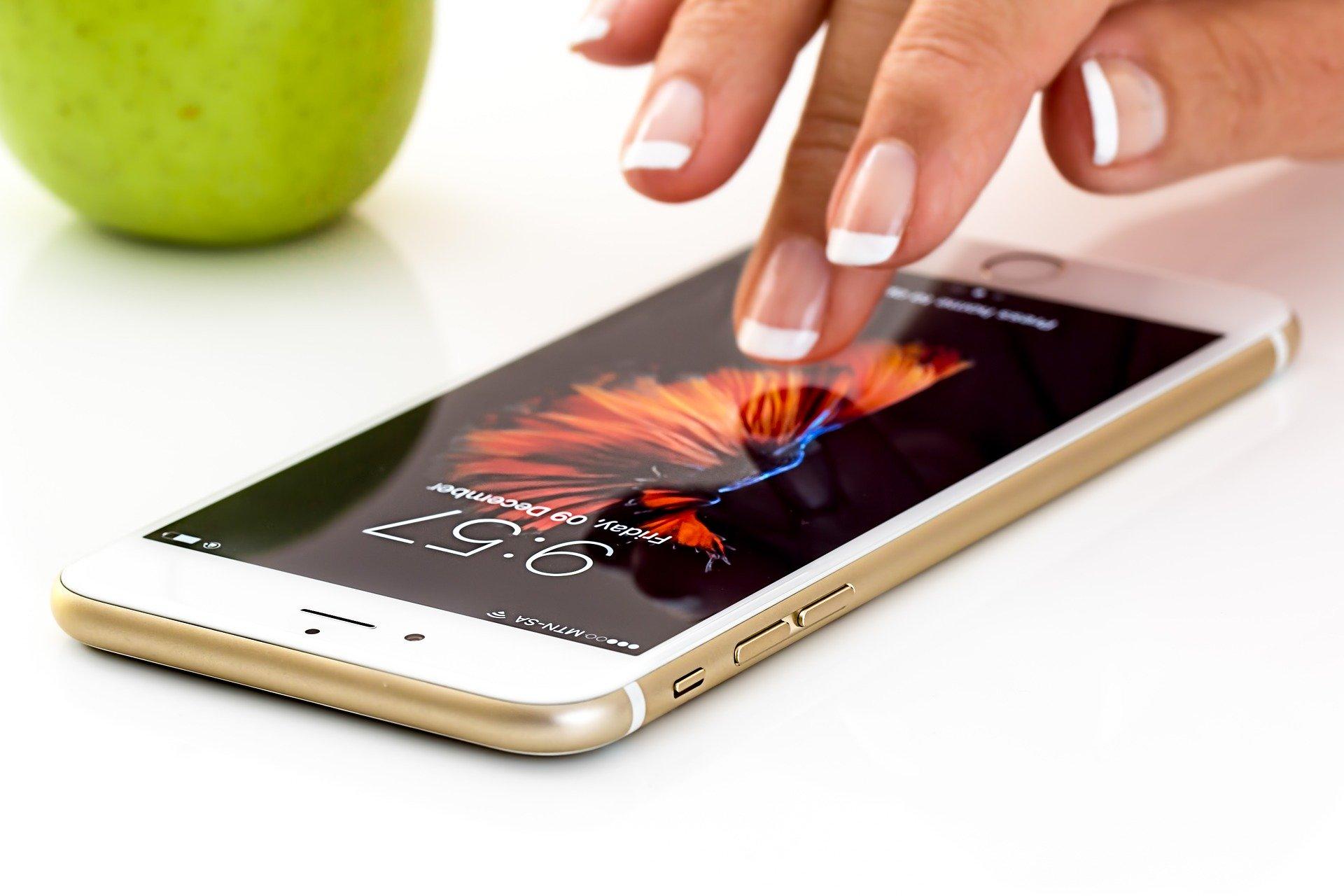 bilde av iphone smarttelefon